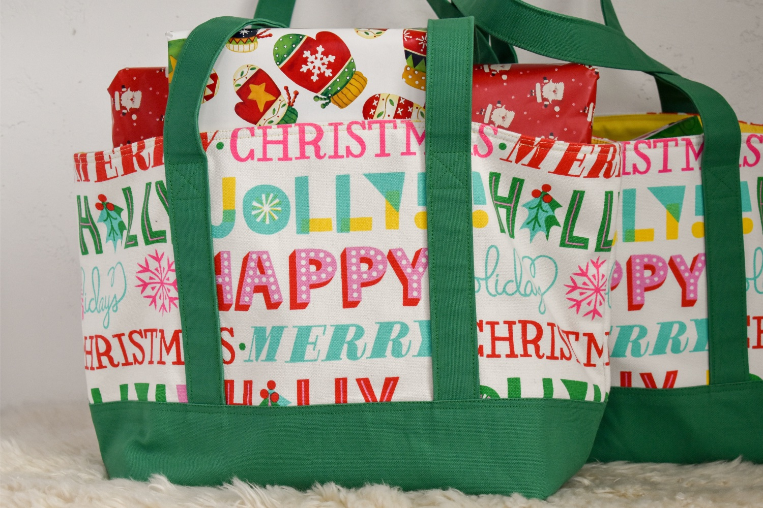 Christmas Tote Bags | A Finished Project