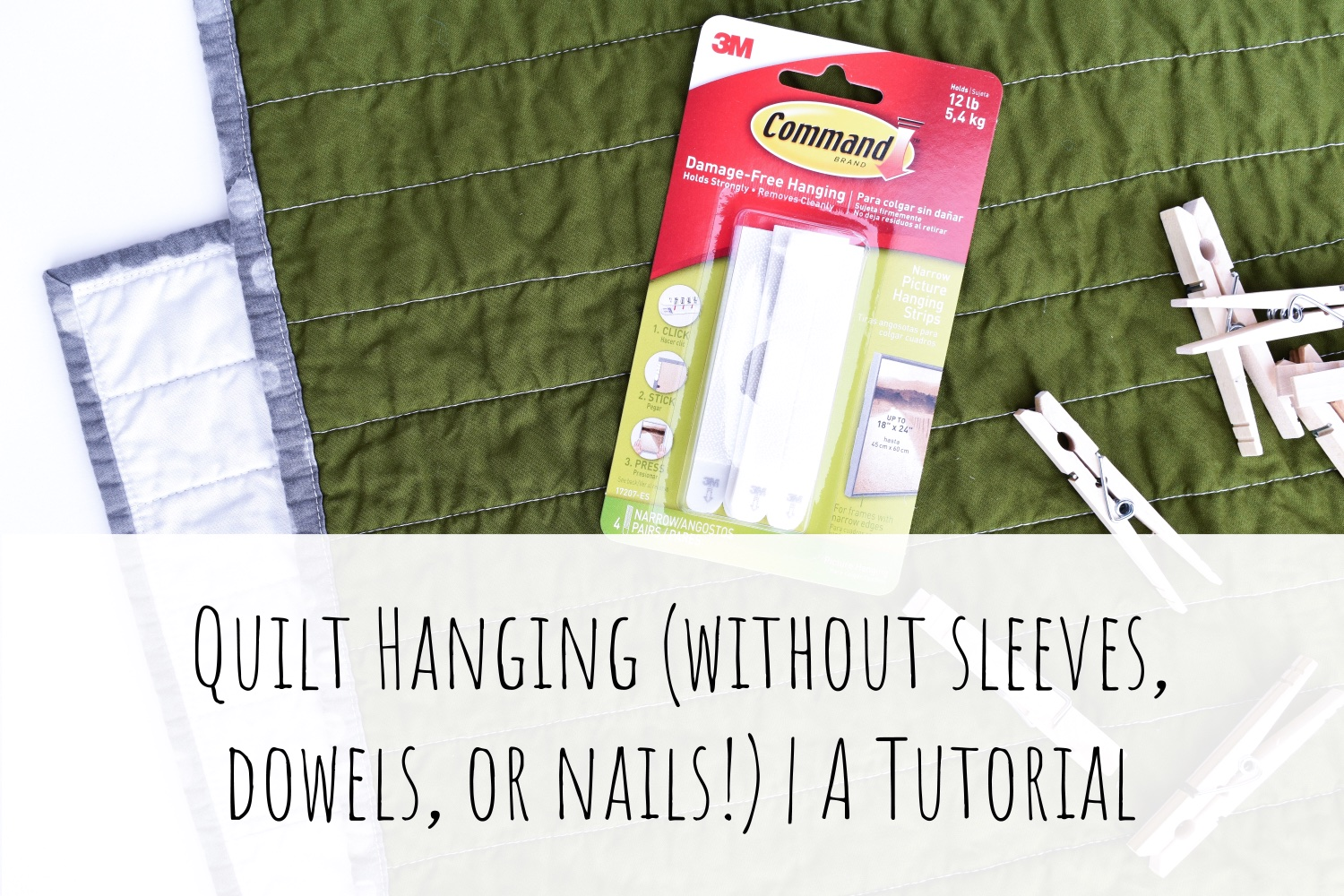 Hang a Quilt (without sleeves, dowels, or nails) | A Tutorial