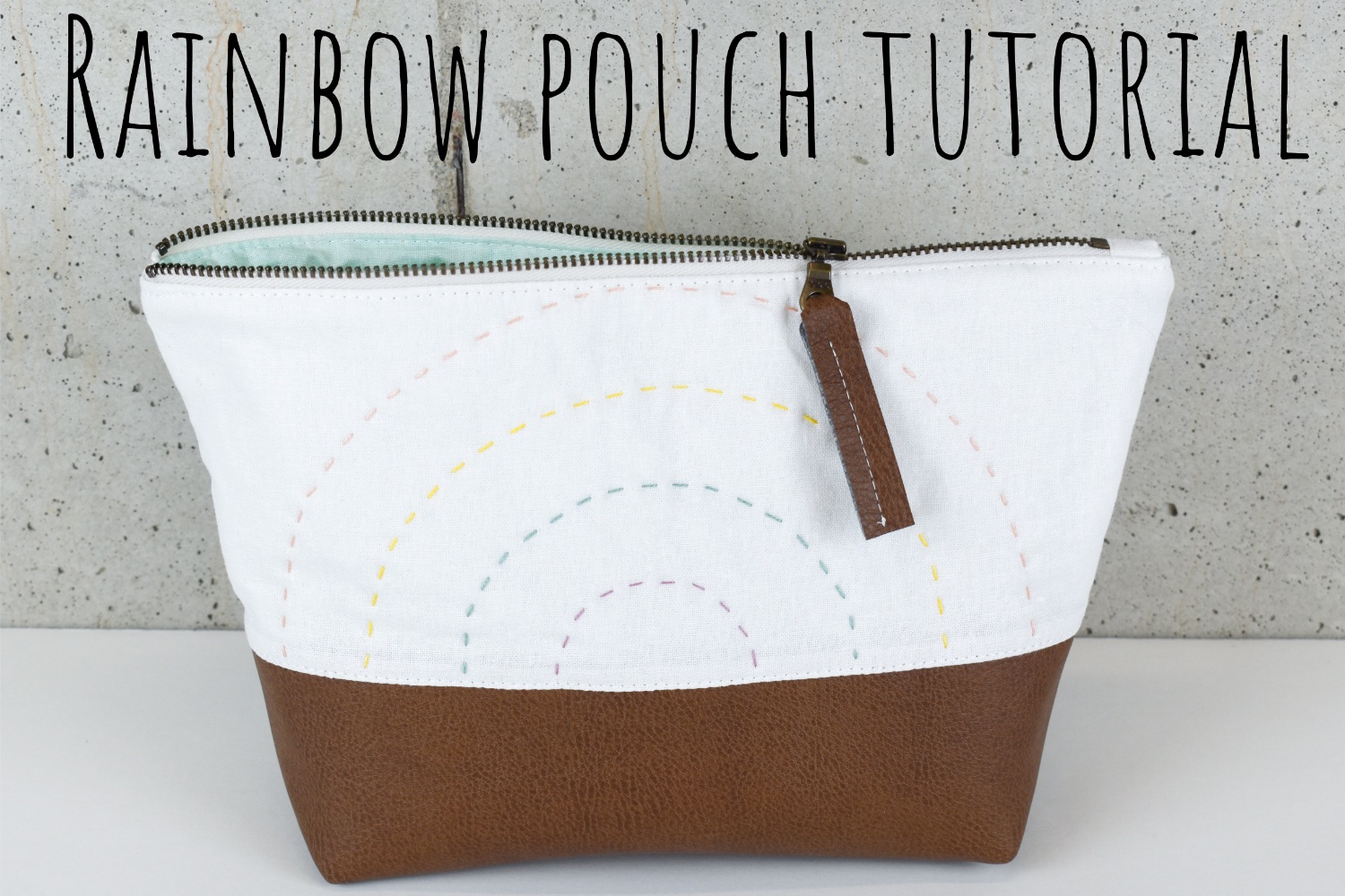 Rainbow Pouch | A Tutorial