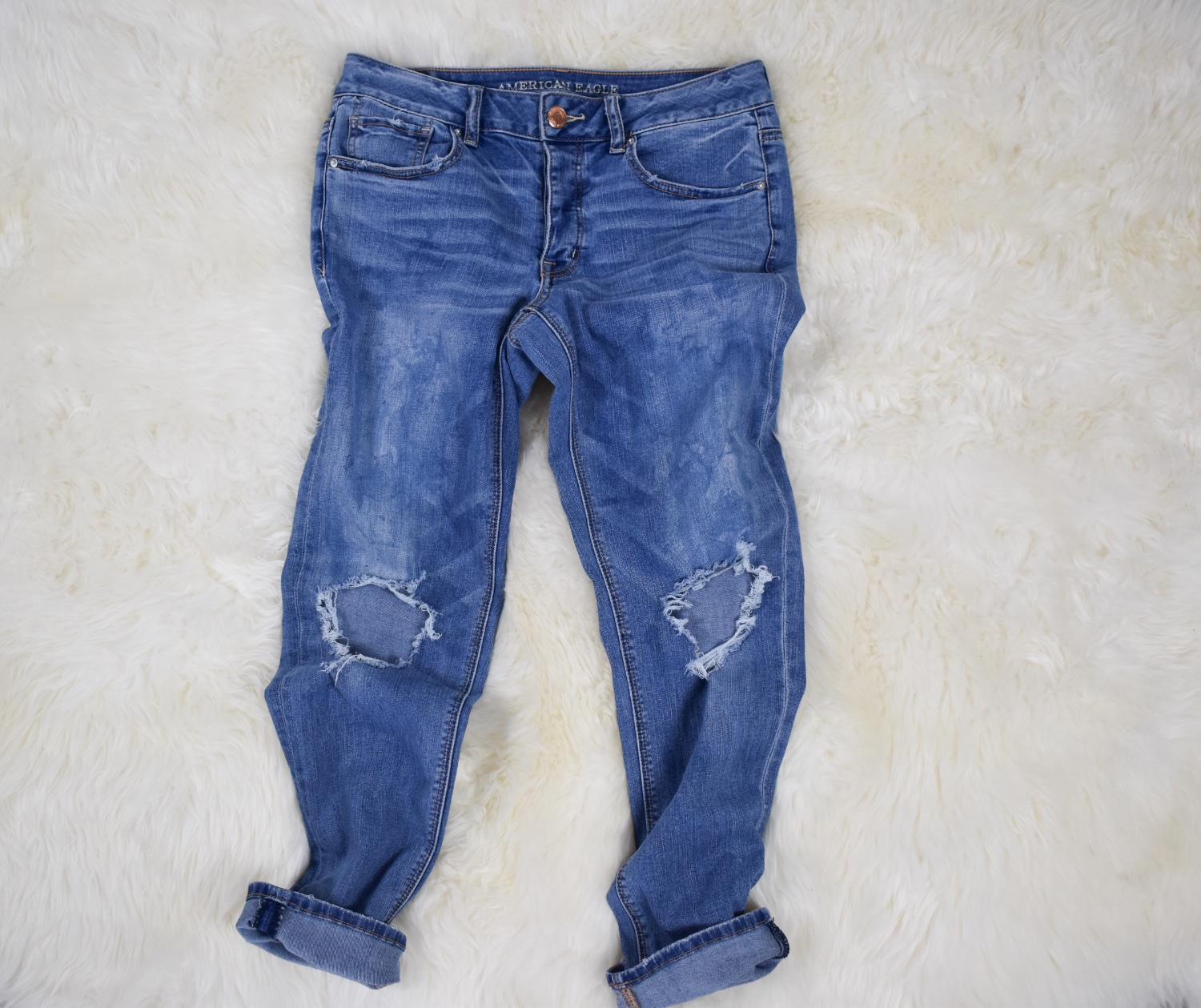 Visible Mended Jeans | A Finished Project