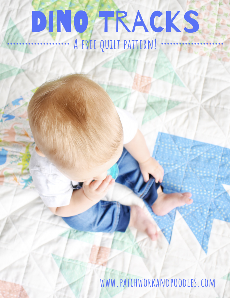 free quilt pattern dino tracks