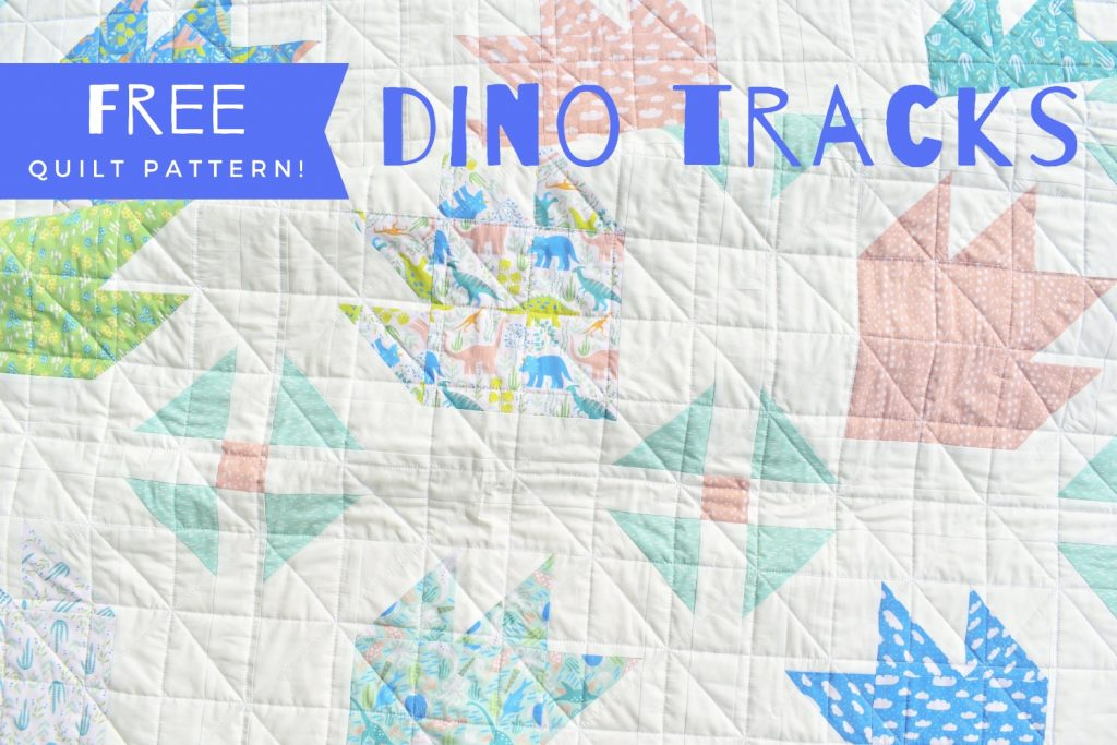 dino tracks free quilt pattern