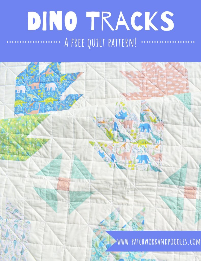 dino tracks free pattern