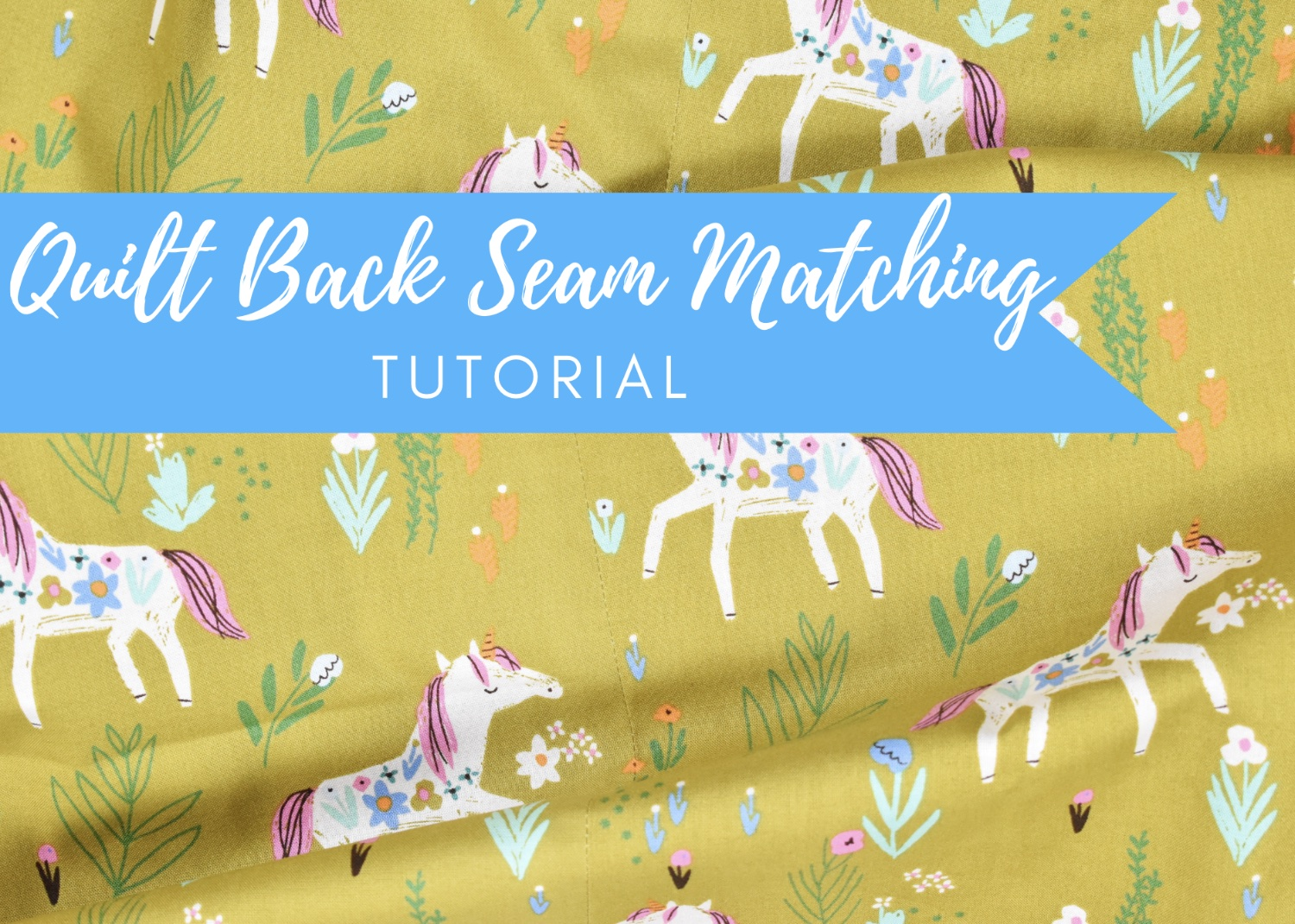 Invisible Seam Backing | A Tutorial