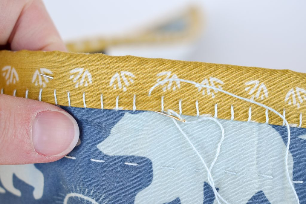 big stitch hand binding