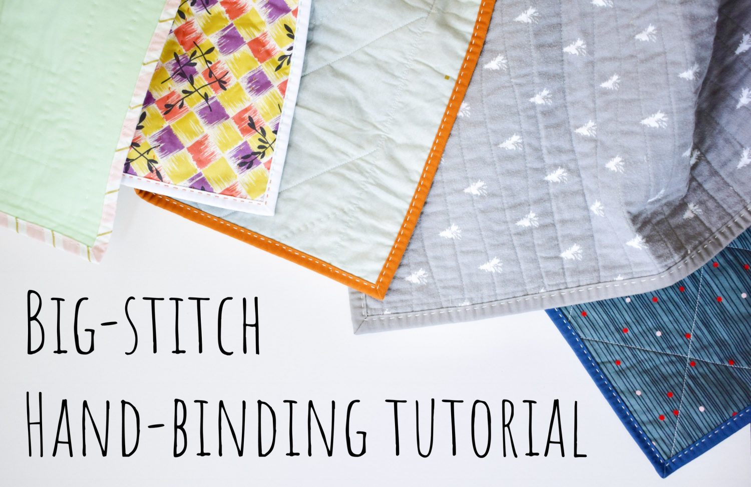 big stitch hand binding tutorial