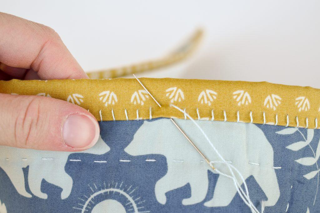 big stitch hand binding variation
