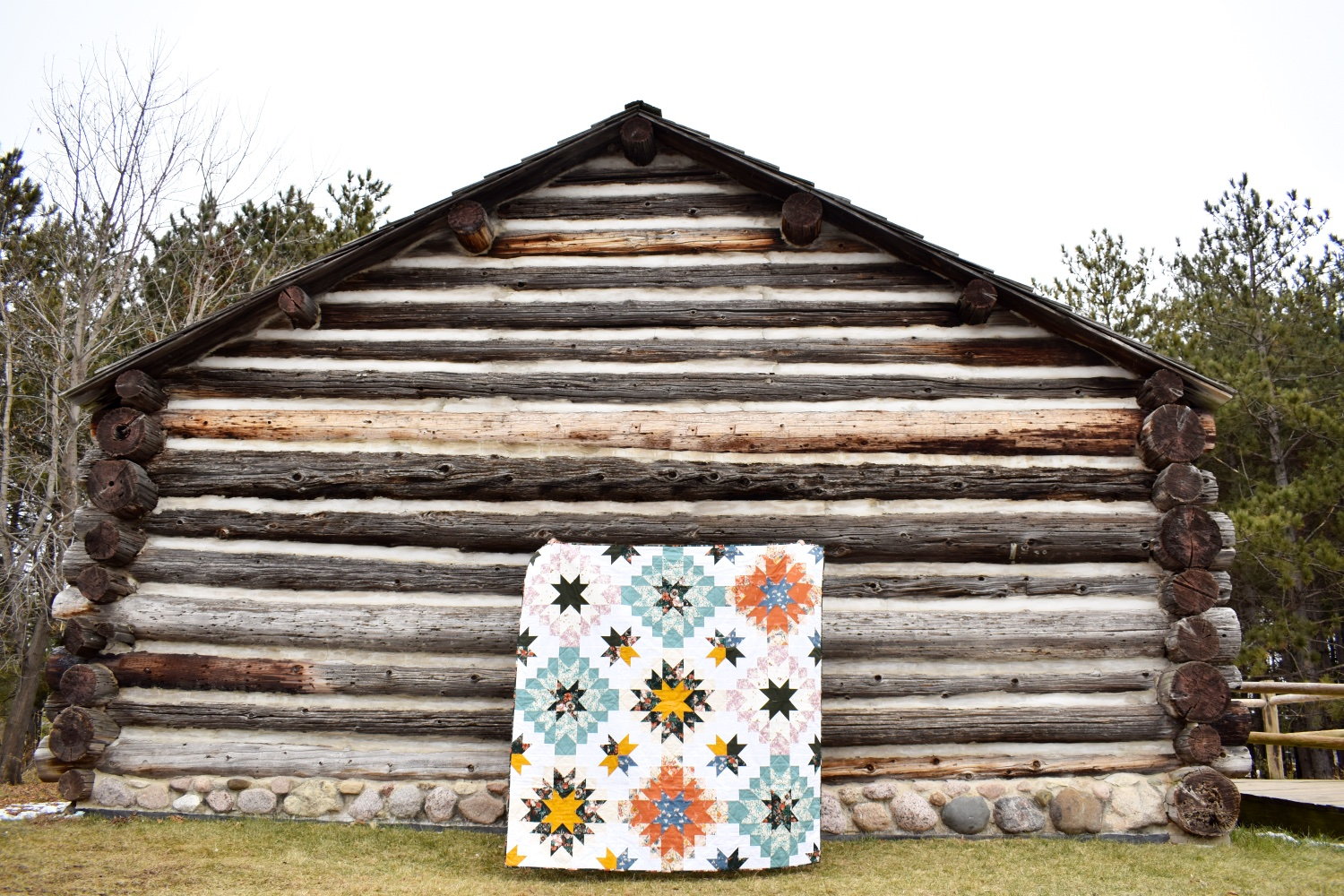 Spirited Harvest Star | A Finished Quilt