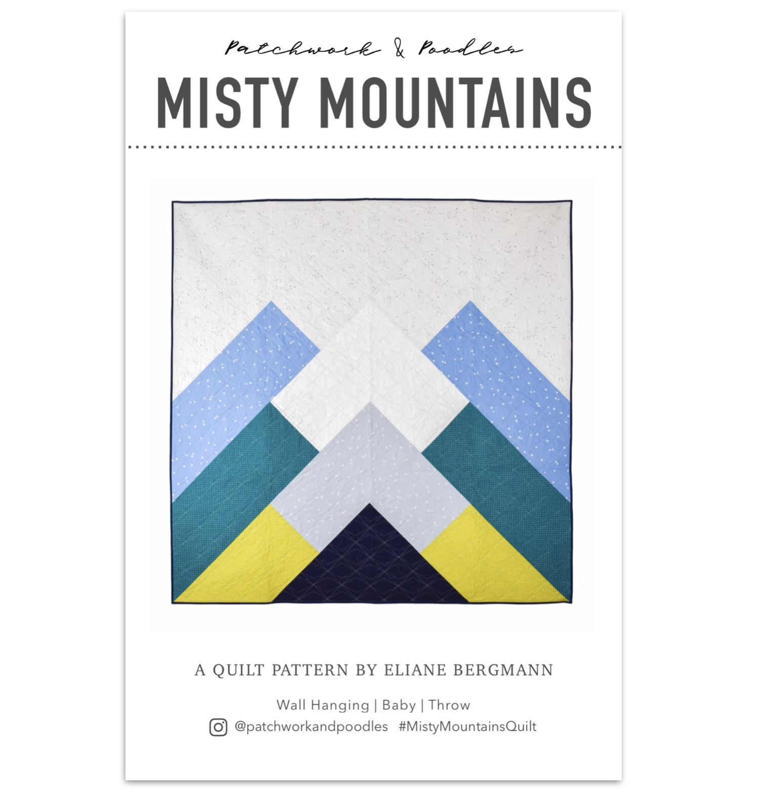 Misty Mountains Paper Patchwork And Poodles