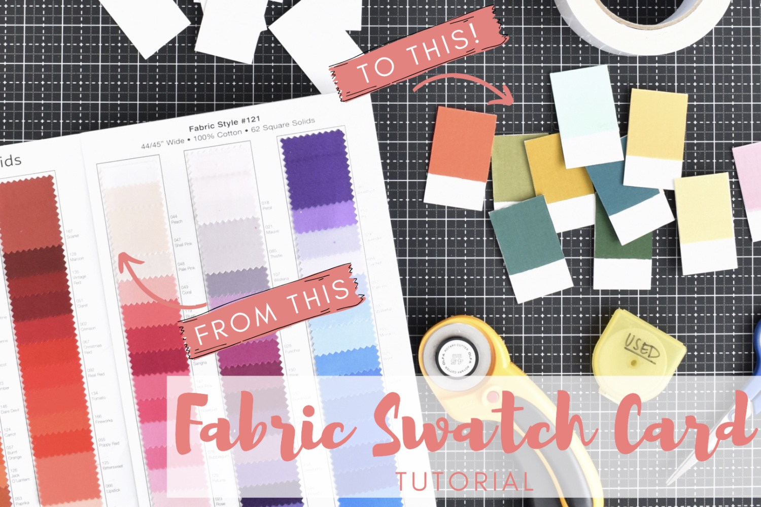 Fabric Swatch Cards | DIY