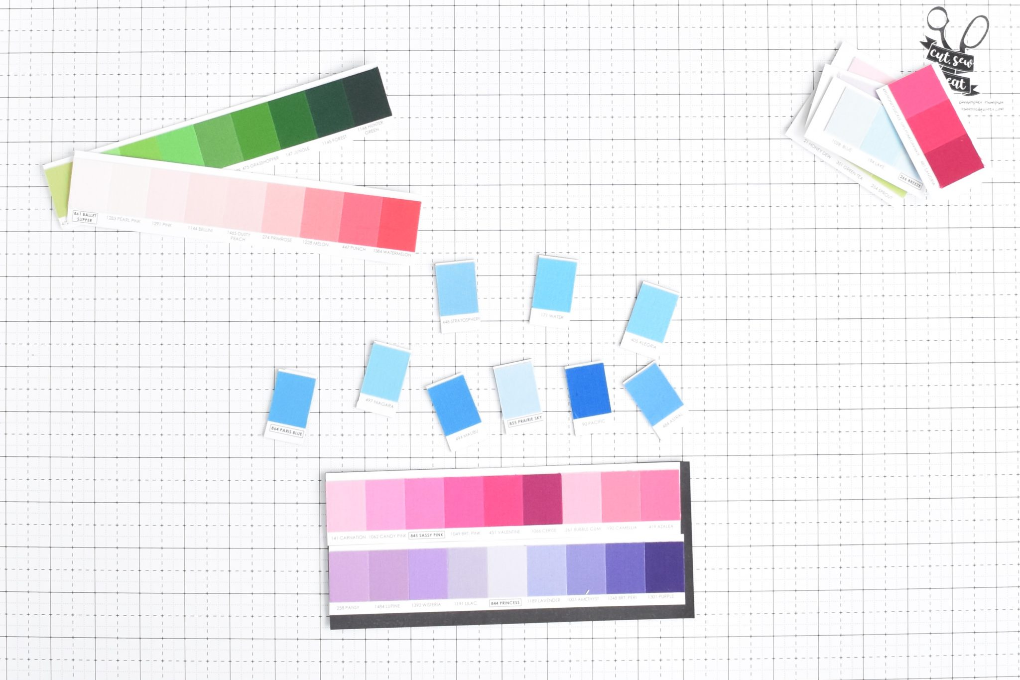 Adding magnets to the back of fabric swatches to make display and usability better