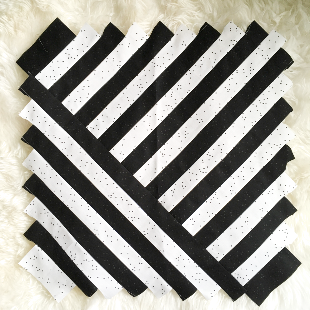Linear Quilt in black and white
