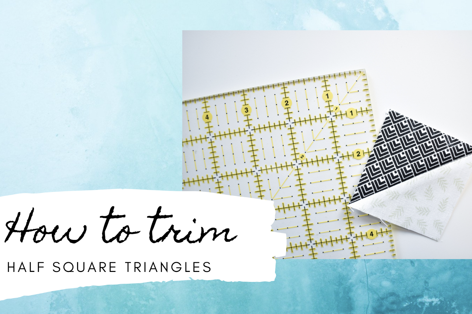 Trimming Half Square Triangles | Two Ways