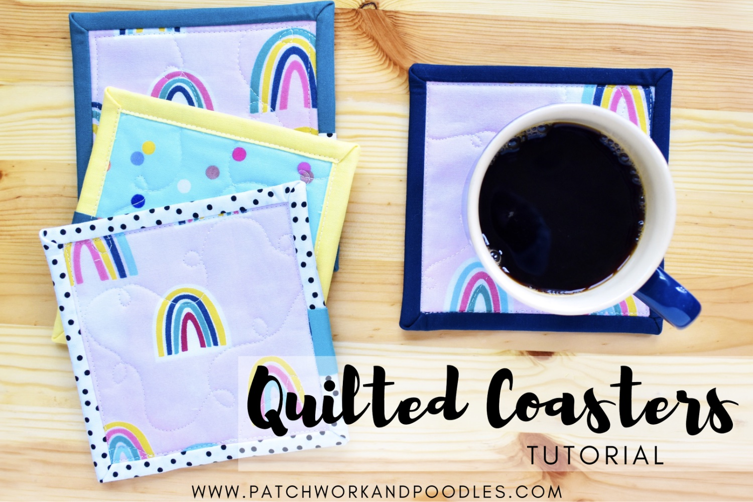 Quilted Coasters | Quick and Easy Tutorial
