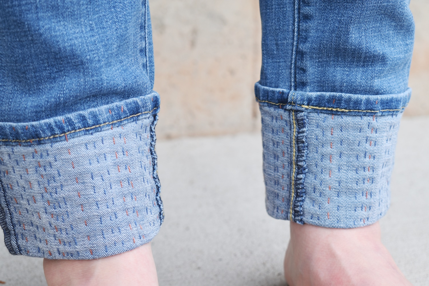 Visible Mending | Hemming Jeans