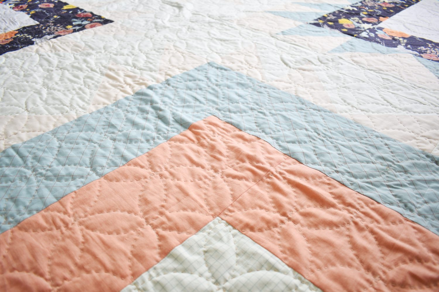 orange peel hand quilting highlights how uneven stitches can be beautiful