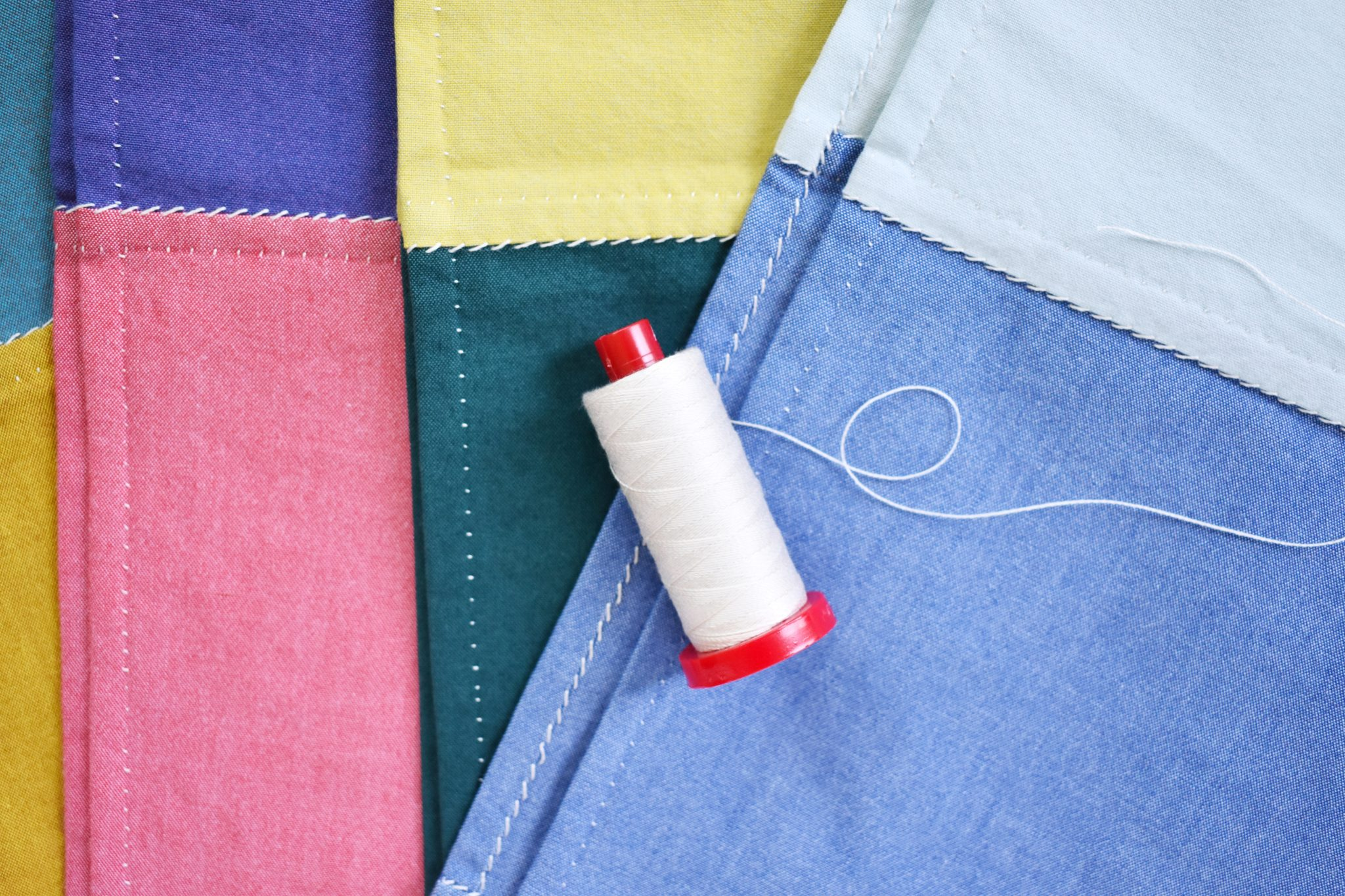 hand stitched cloth napkins for the kitchen