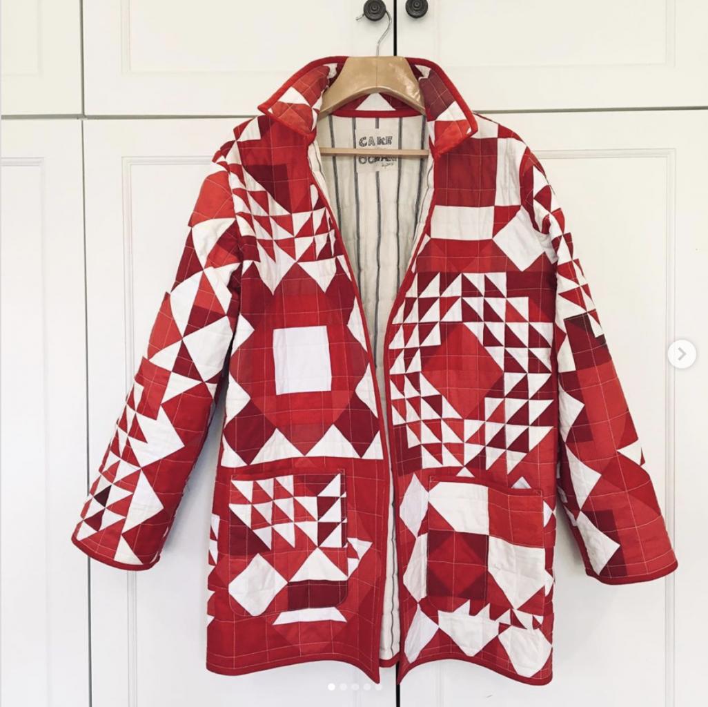 making a quilt coat