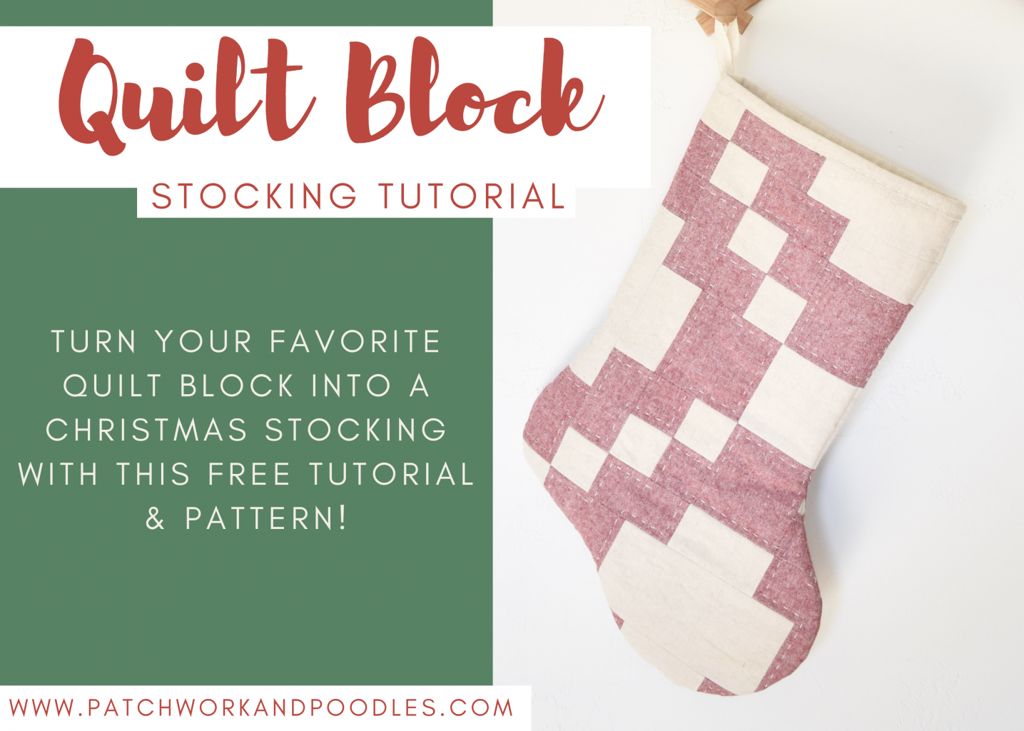 use your favorite quilt to make unique Christmas stockings with this free tutorial