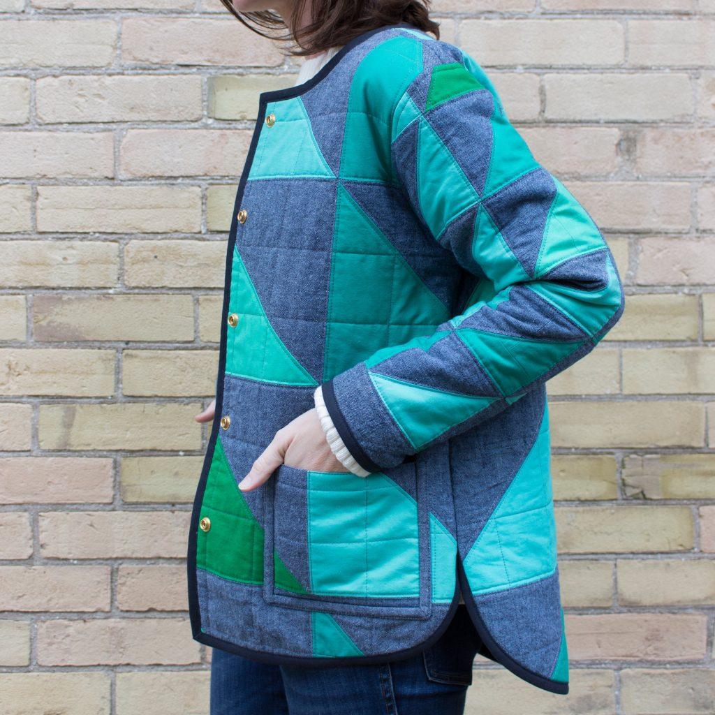 create a quilt coat