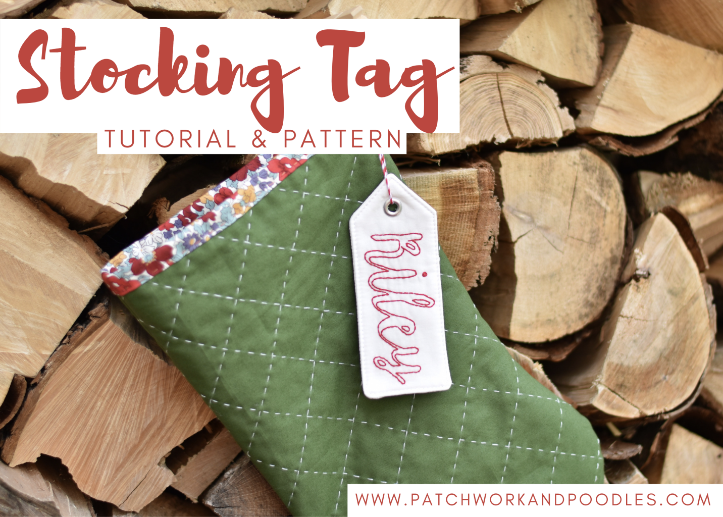 free stocking tag tutorial embroidery and machine