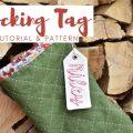 diy christmas stocking tag tutorial