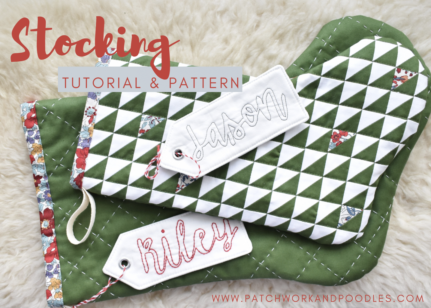 free quilted stocking pattern in two sizes