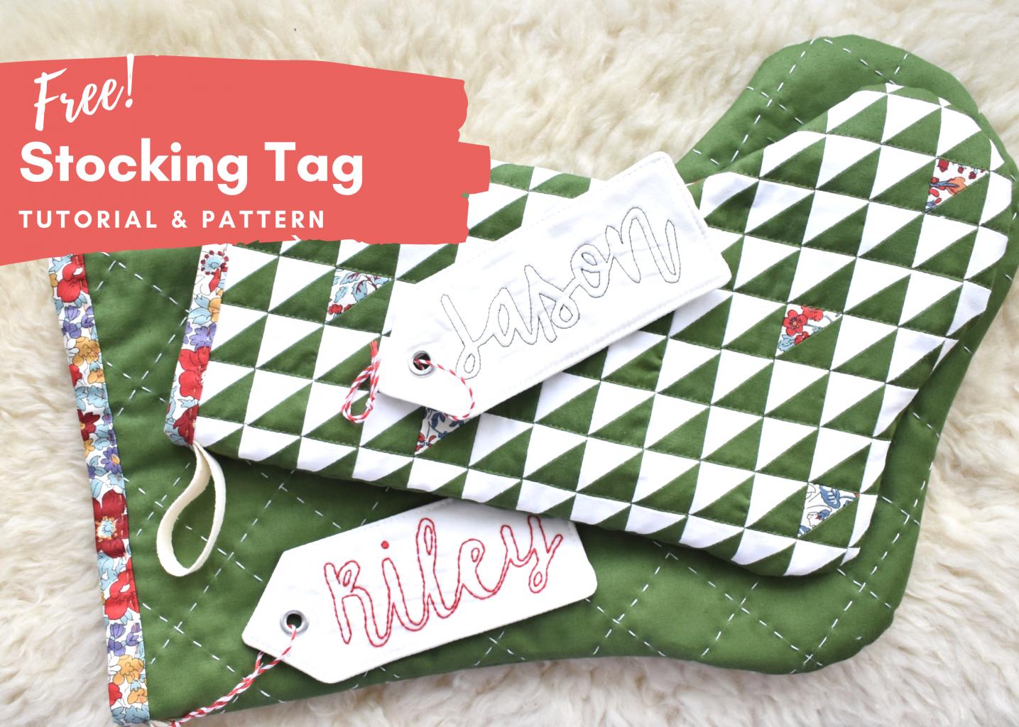 Free Christmas stocking tag tutorial