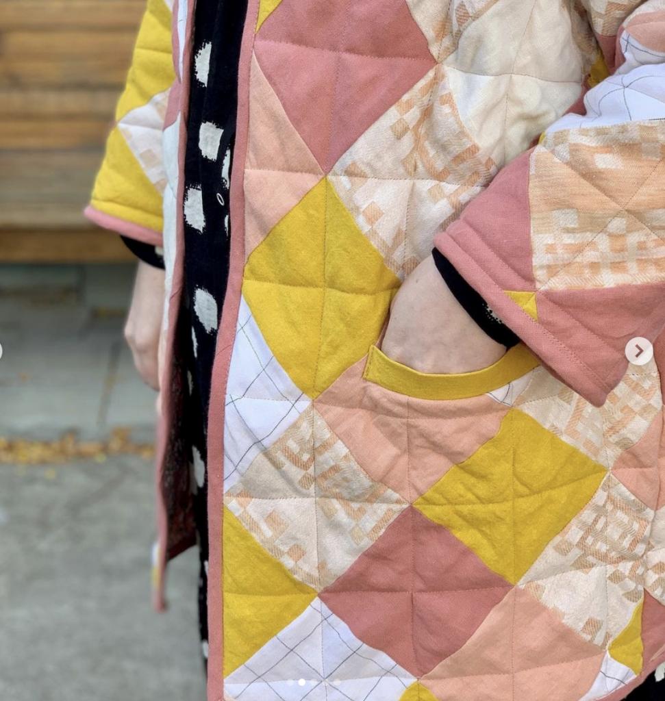making a plus size quilt coat