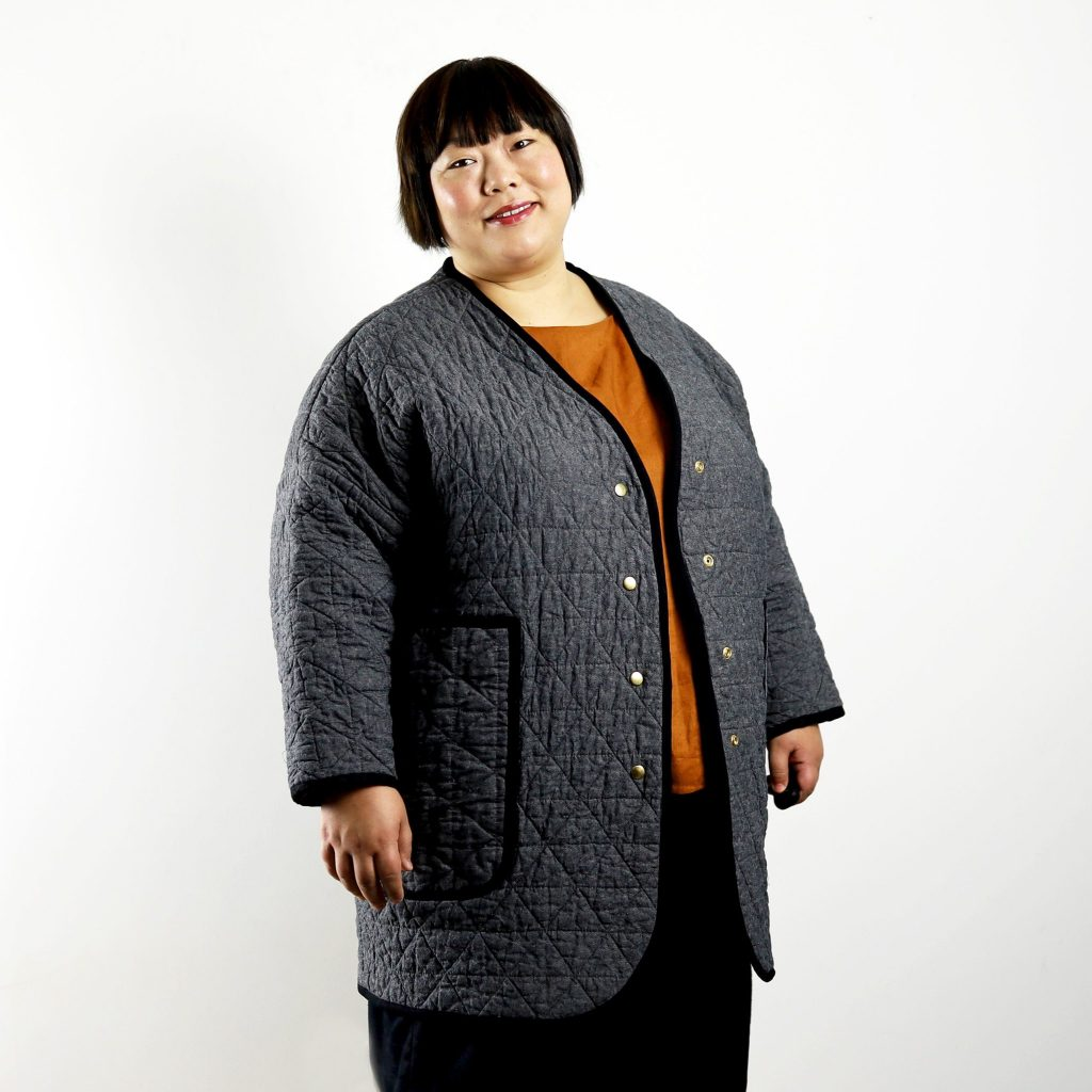 plus size quilt coat