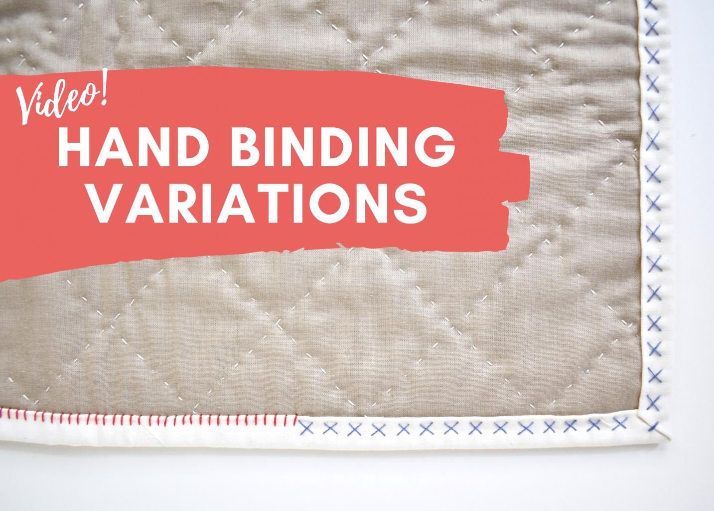 big stitch hand binding variations tutorial