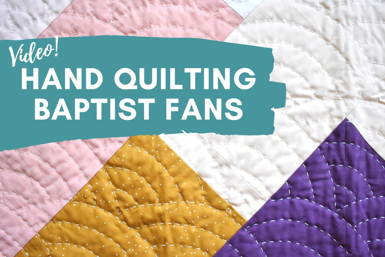 Baptist Fans Hand Quilting Video!