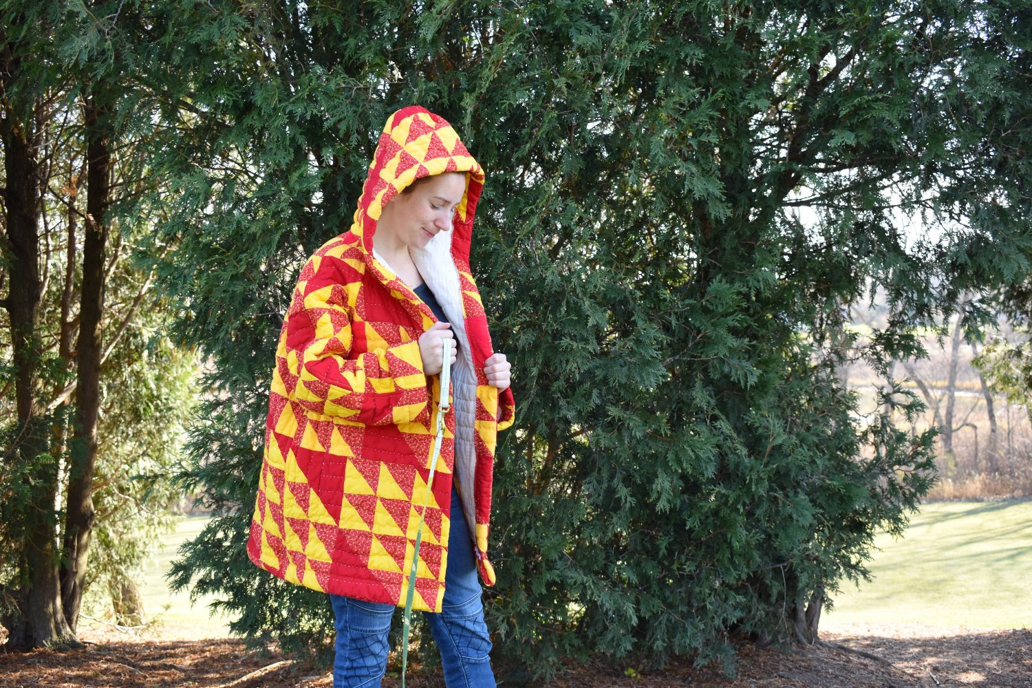 A handmade quilted coat tips and tricks