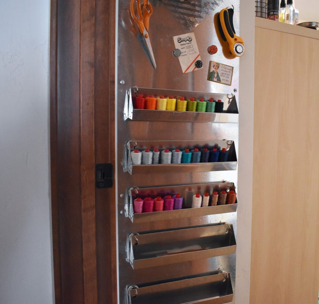 Creating a magnetic wall to maximize thread storage