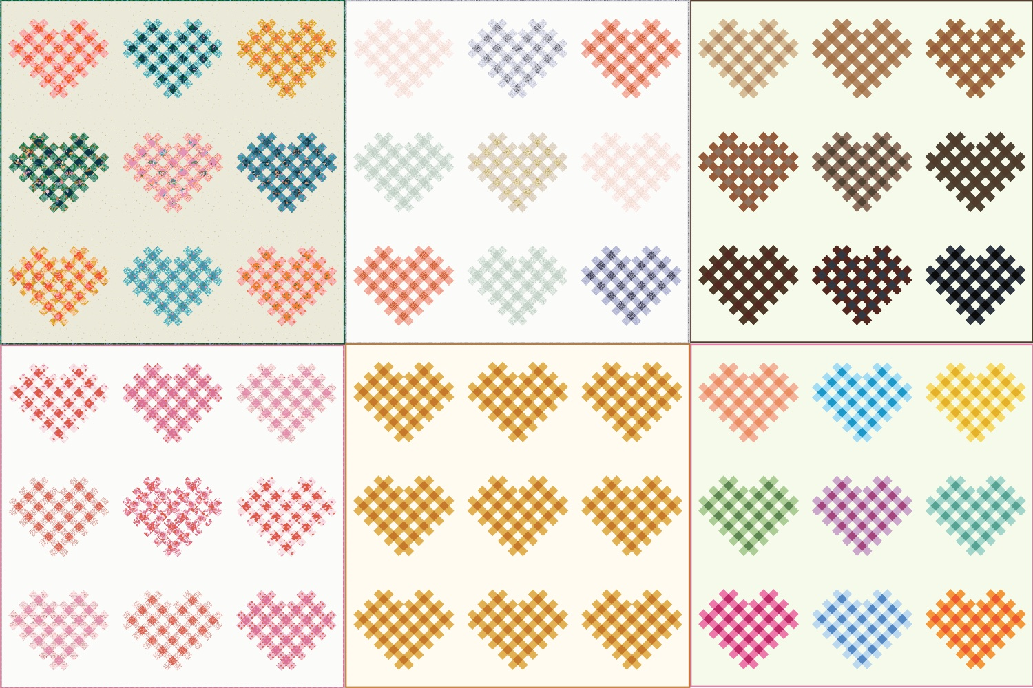 Woven Hearts Quilt Mock-Ups