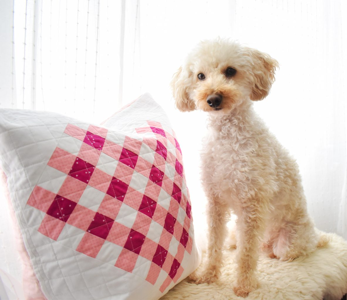 Woven Hearts modern heart quilt pillow pattern
