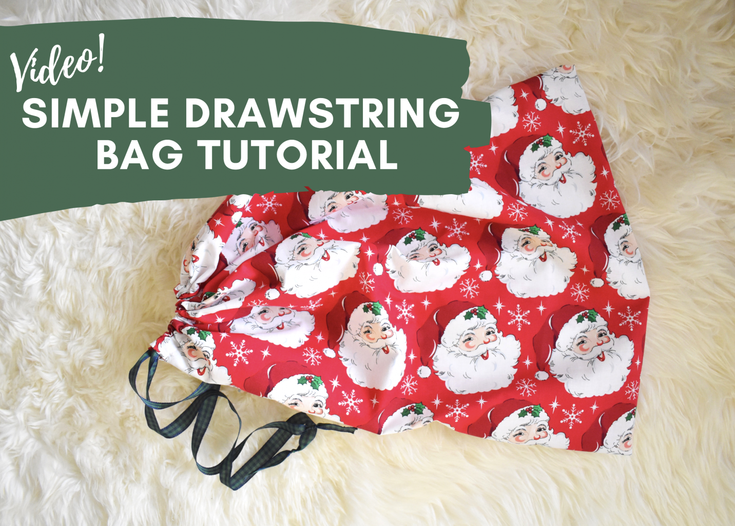 Learn to make a simple drawstring bag. Perfect beginner project!