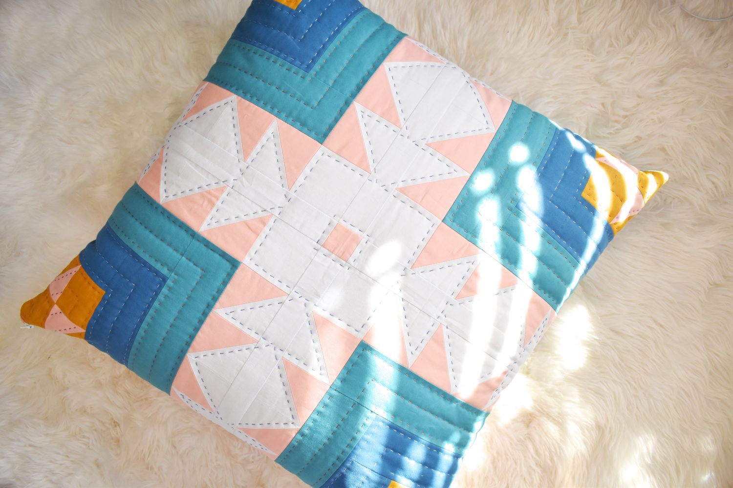 Create a floor pillow or dog bed for the perfect quilted decor!