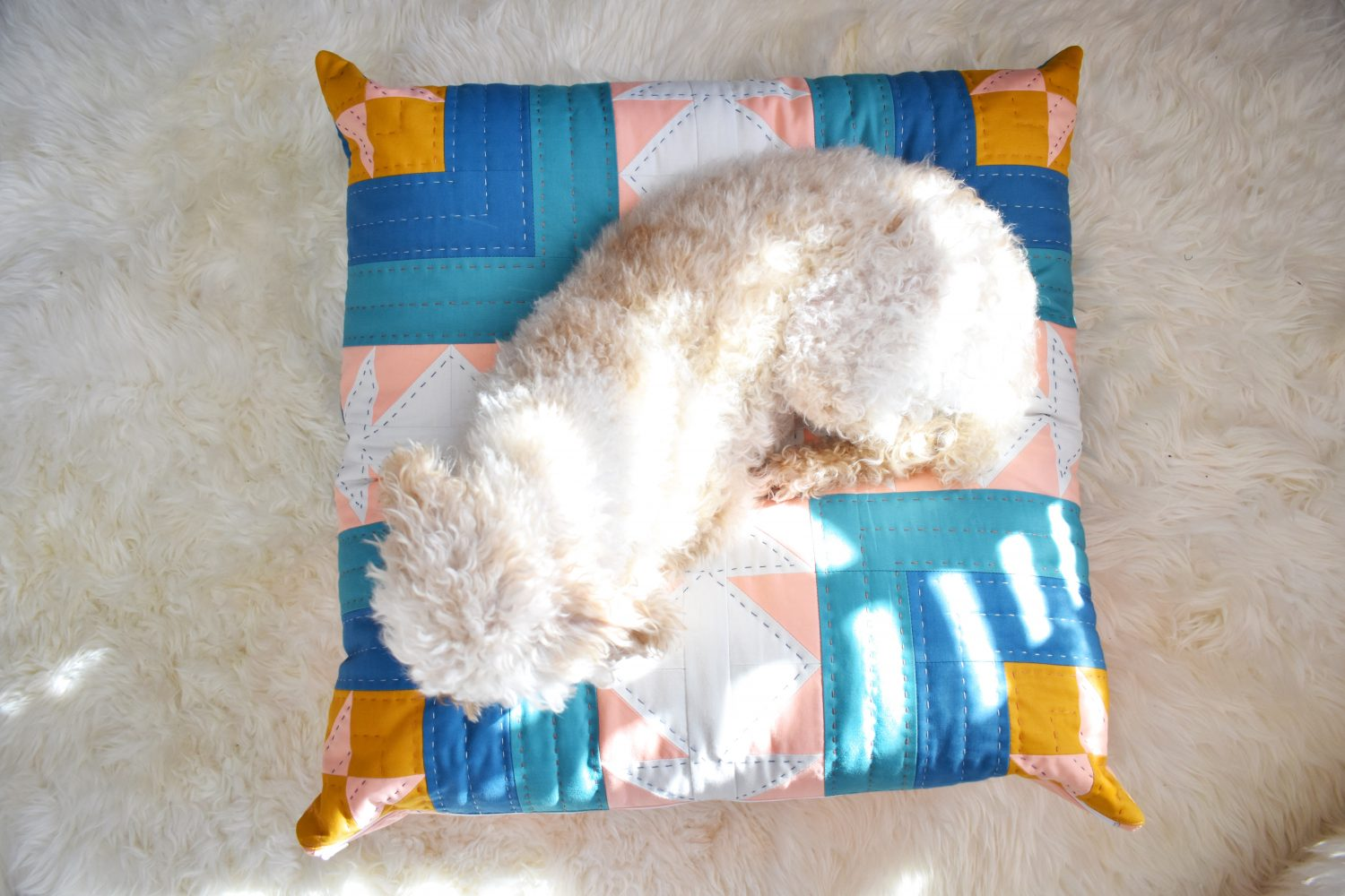 This dog bed diy is the perfect size for my miniature poodle