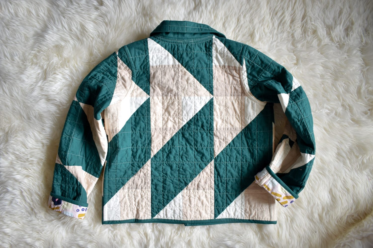 Cirrus quilt turned into coat