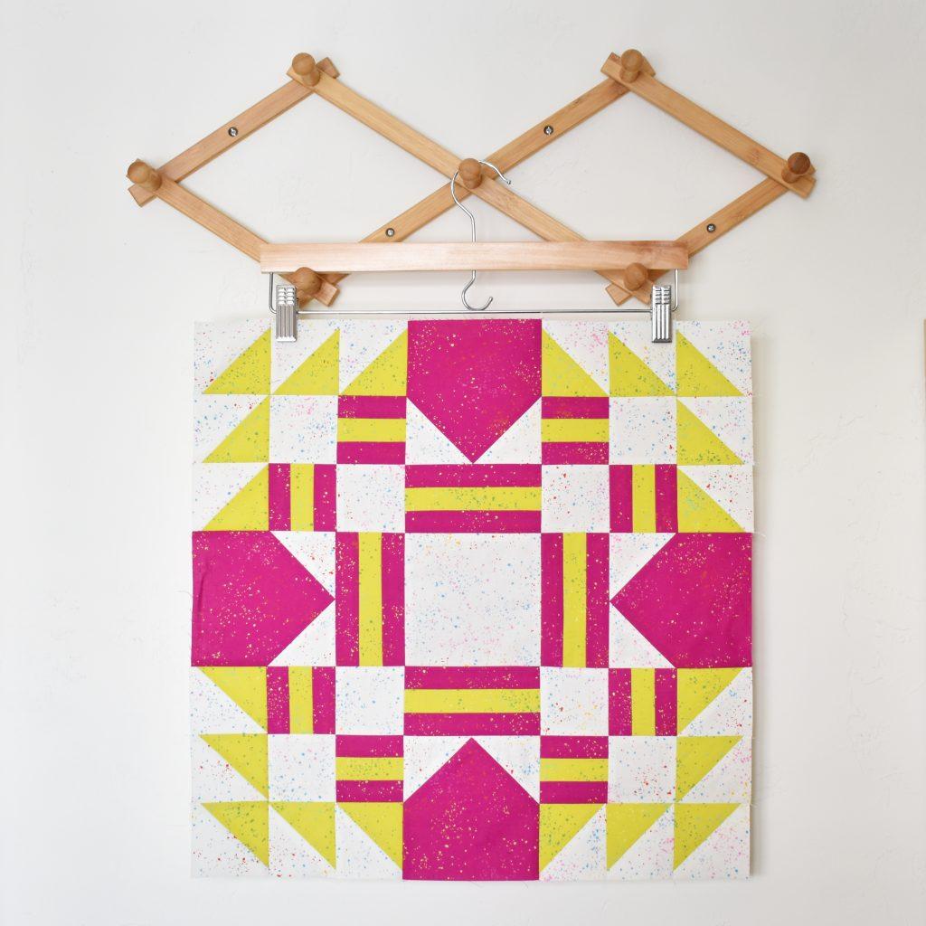 Everglow quilt block