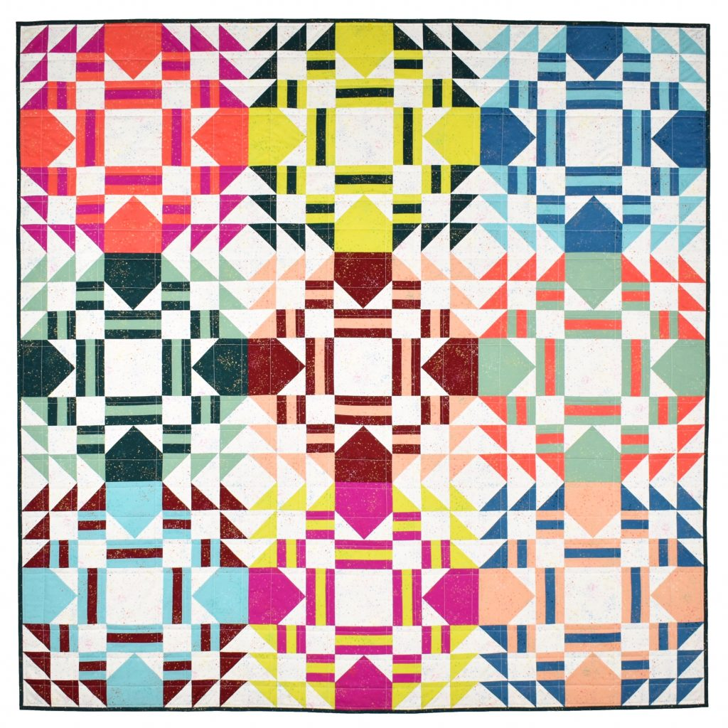 Everglow quilt pattern by Patchwork and Poodles