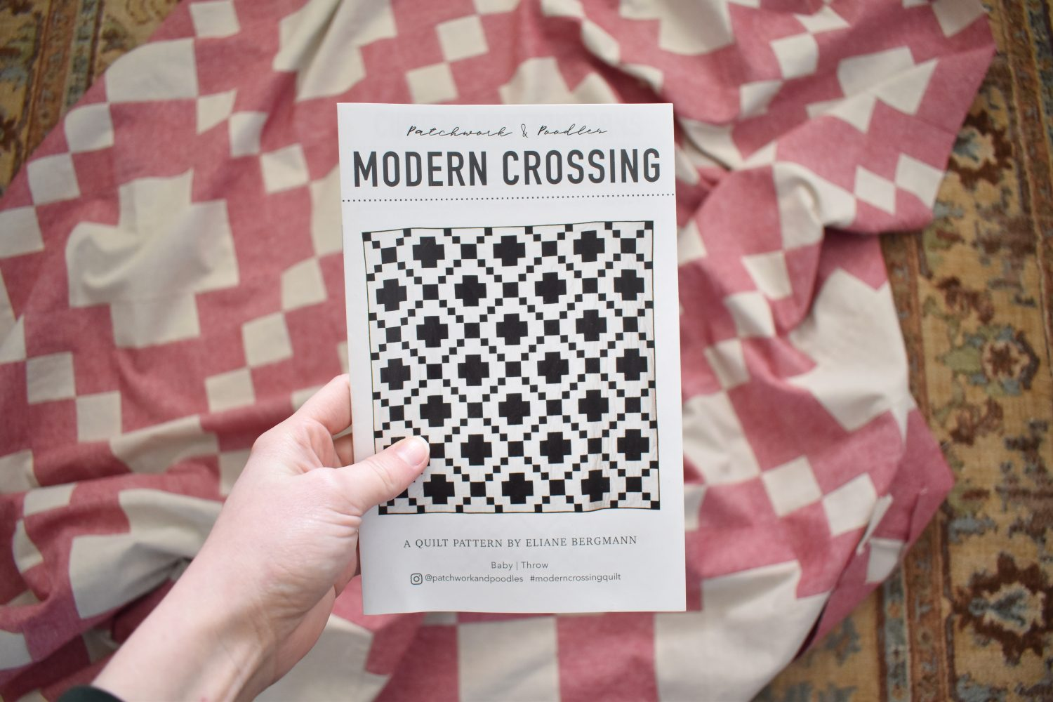 Using Modern Crossing quilt pattern to make a quilt coat