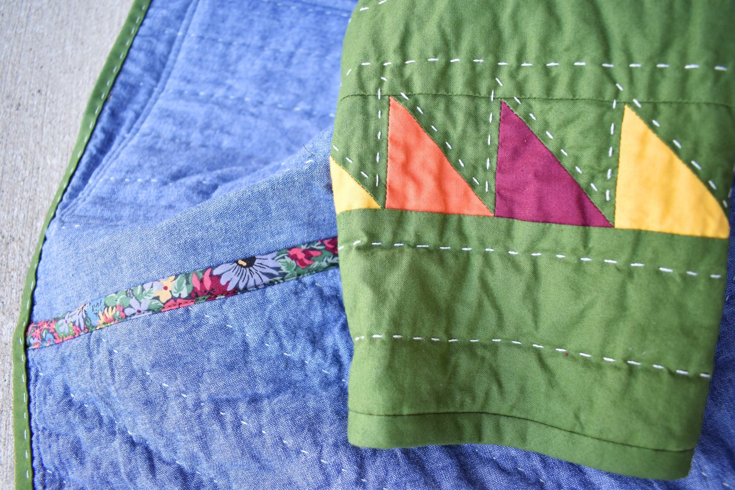 sleeve details on a Patchwork Chore Coat