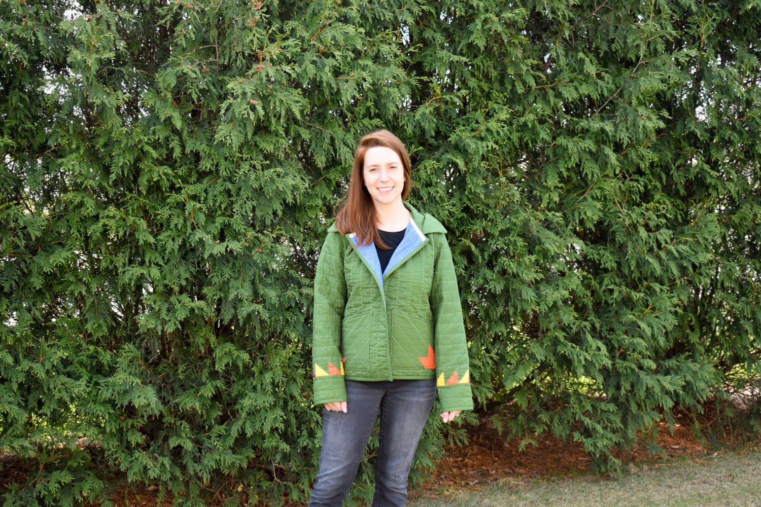 Hand quilted quilt coat
