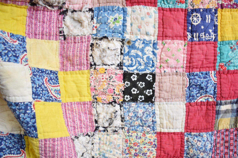 Mending a vintage quilt