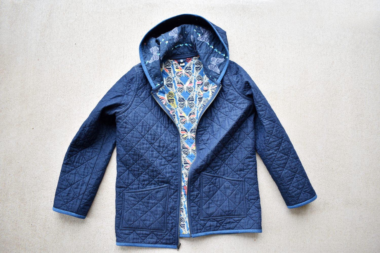 Modern quilt coat