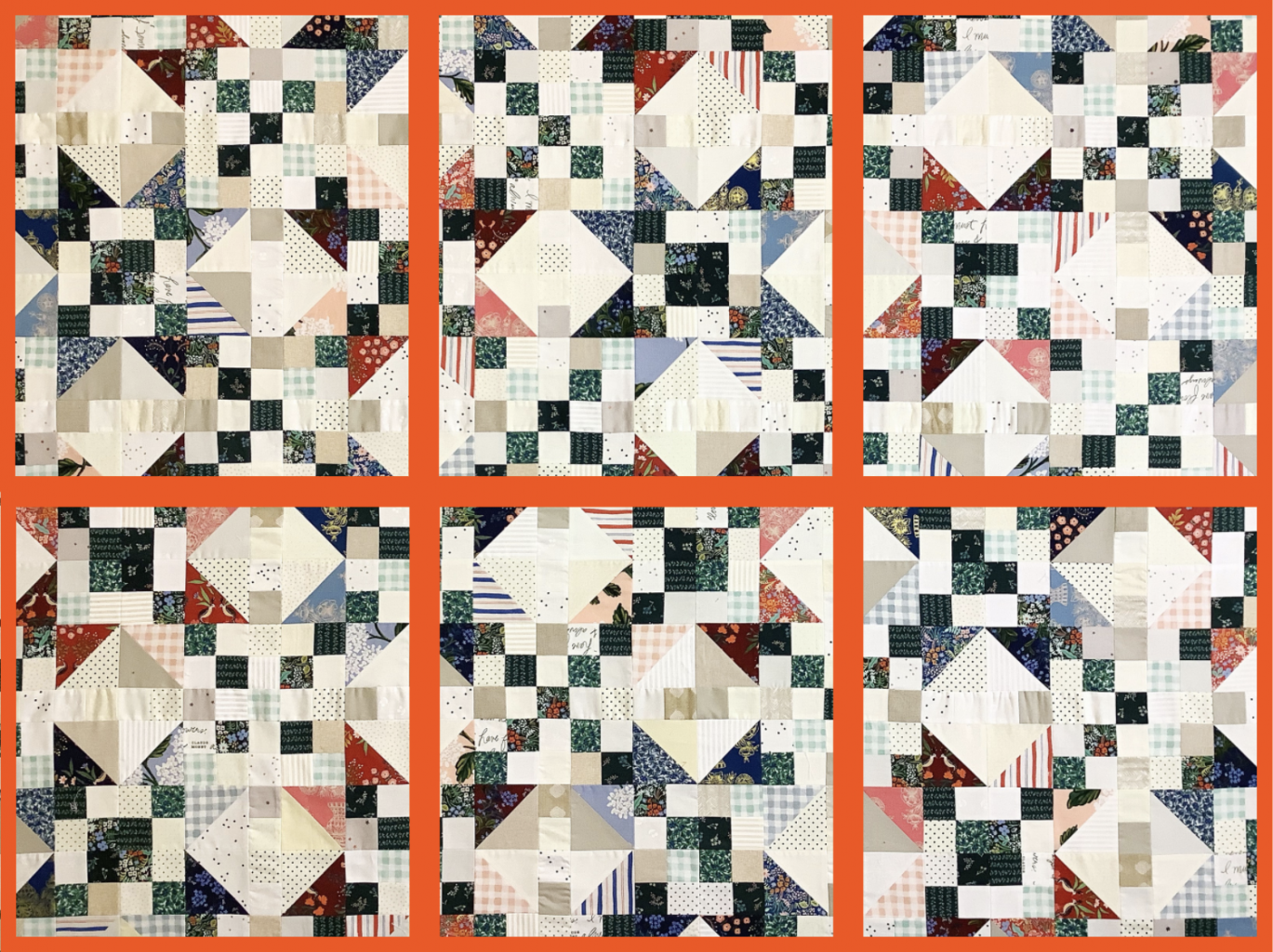 divide a large quilt into segments to make it easier to baste