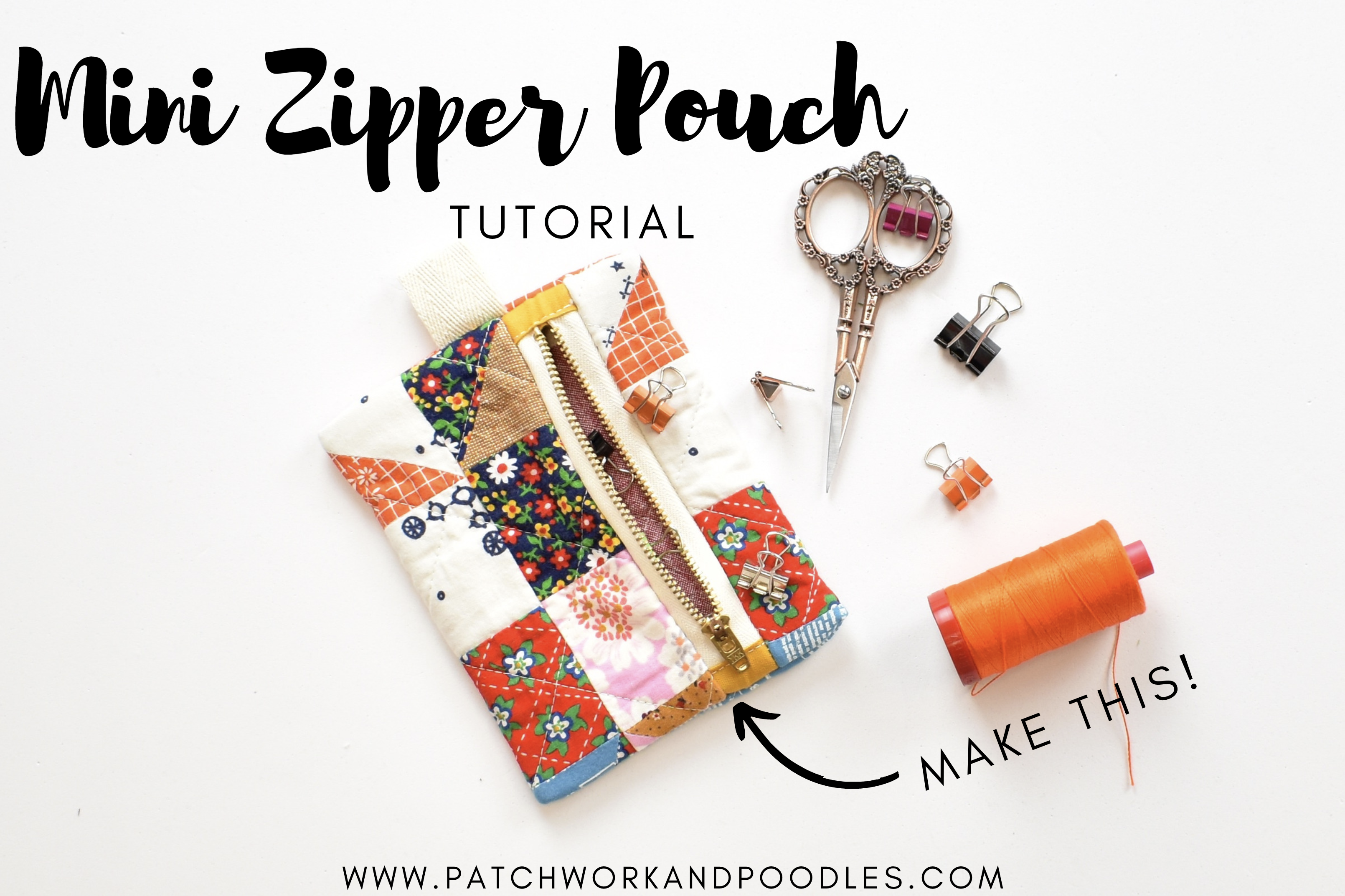 Mini Quilted Zipper Pouch Tutorial