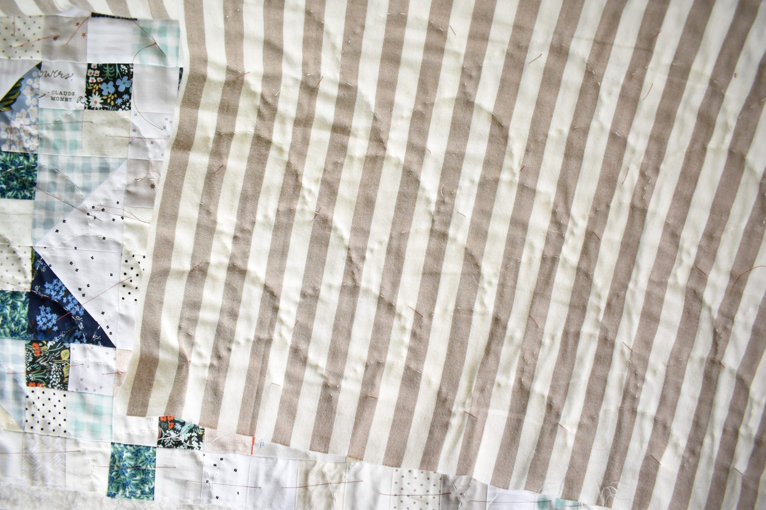 Clamshell hand quilting